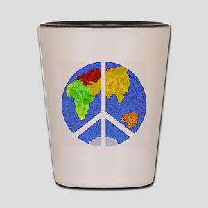 peaceworldornament Shot Glass