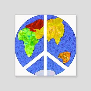 """peaceworldornament Square Sticker 3"""" x 3"""""""