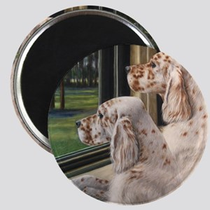 English Setter Puppies Magnet