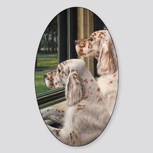 English Setter Puppies Sticker (Oval)