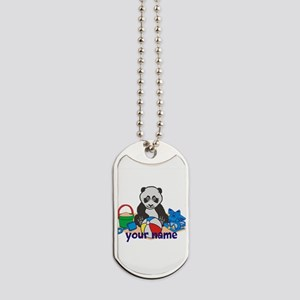 Personalized Beach Panda Dog Tags