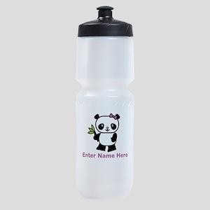 Personalized Panda Sports Bottle