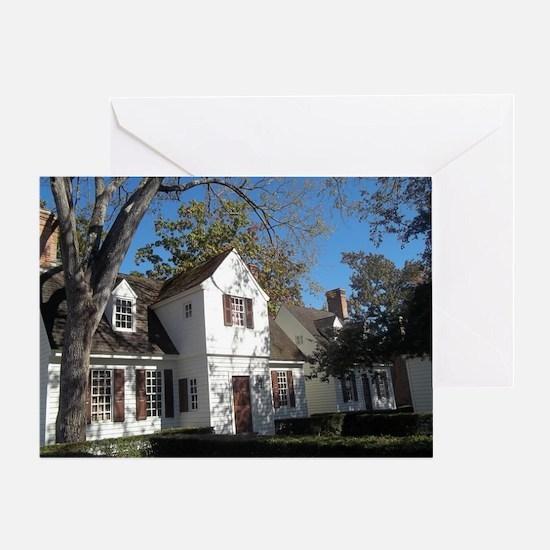 Colonial Home in Williamsburg, Va Greeting Card