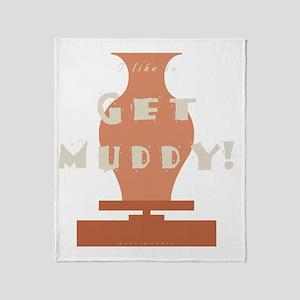 burntmud-d-muddy Throw Blanket