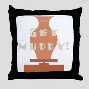 burntmud-d-muddy Throw Pillow