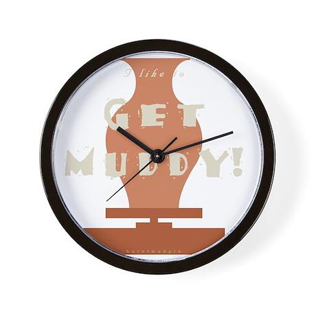 burntmud-d-muddy Wall Clock