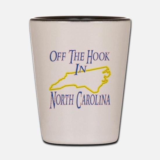 North Carolina - Off The Hook Shot Glass