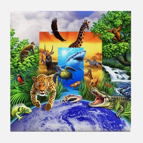 Wild World 2 Tile Coaster