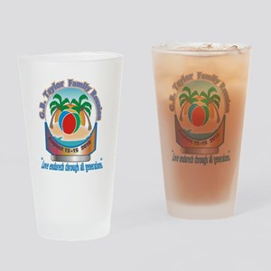 G.B. Taylor Family Reunion logo 1 Drinking Glass