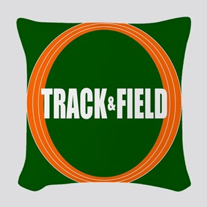 Track and Field Woven Throw Pillow