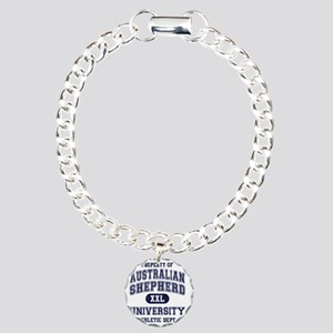 Australian-Shepherd-Univ Charm Bracelet, One Charm