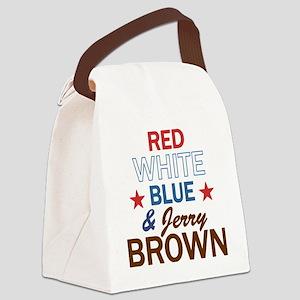 RWBluBrownStar Canvas Lunch Bag