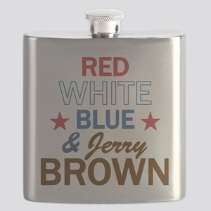 RWBluBrownStar Flask