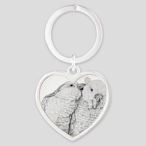 Cockatoos Heart Keychain