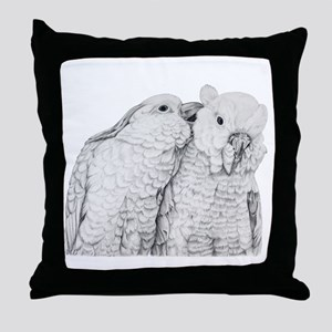 Cockatoos Throw Pillow