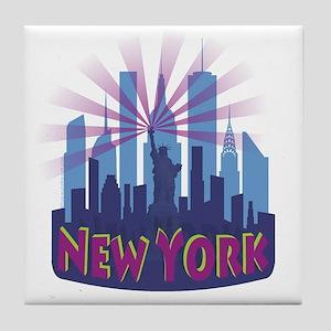 NYC Newwave7 cool Tile Coaster