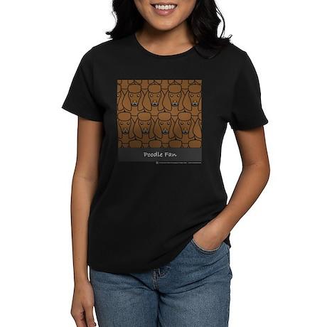 Brown Poodle Fan Women's Dark T-Shirt