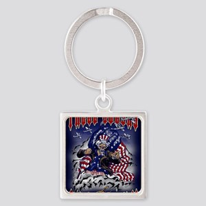 UNCLE SAM Square Keychain