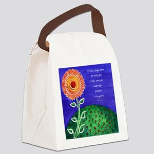 Sunflower tote Canvas Lunch Bag