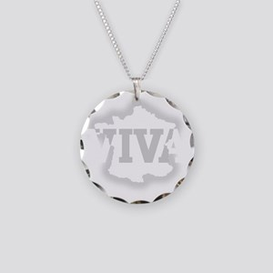 viva_white Necklace Circle Charm