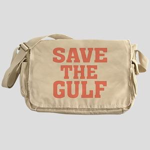 Save the Gulf coral 2 Messenger Bag
