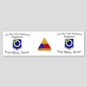 1st Bn 41st Inf Mug1 Sticker (Bumper)