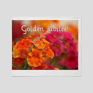 Golden Jubilee Throw Blanket