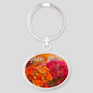 Golden Jubilee Oval Keychain