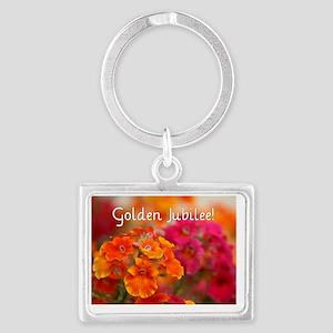 Golden Jubilee Landscape Keychain
