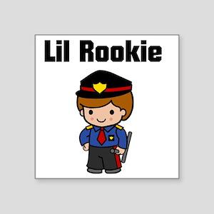 "rookie cop 2 Square Sticker 3"" x 3"""