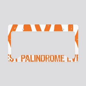 Kayak Palindrome License Plate Holder