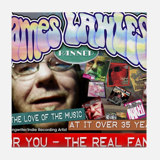 james lawless fan shirts Tile Coaster