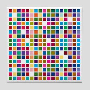 Colour boxes Tile Coaster