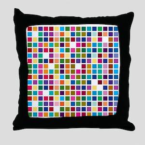 Colour boxes Throw Pillow