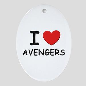 I love avengers Oval Ornament