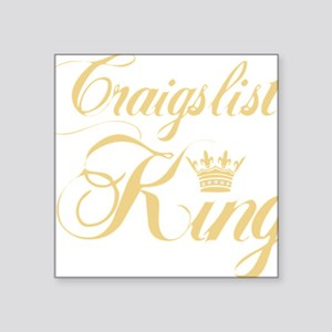 """cl king gold Square Sticker 3"""" x 3"""""""