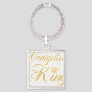 cl king gold Square Keychain
