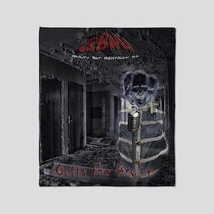 GBMI - Outta the Asylum CD Cover 10x Throw Blanket