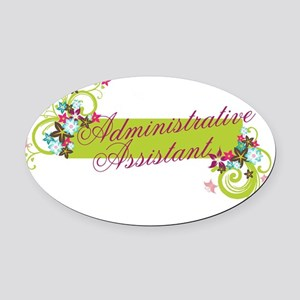 Administrative Assistant Oval Car Magnet
