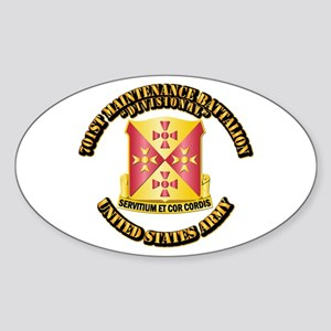701st Maintenance Bn with Text Sticker (Oval)