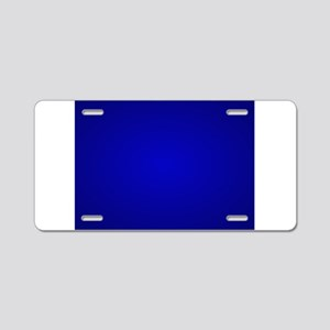 Minimal Art Dark Blue Aluminum License Plate