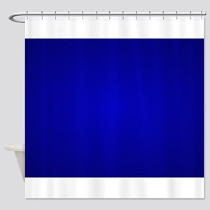 Minimal Art Dark Blue Shower Curtain
