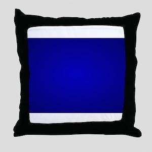 Minimal Art Dark Blue Throw Pillow