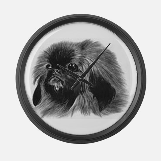Pekingese Large Wall Clock