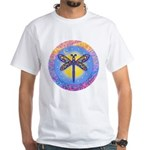 LGLG-Butterfly (purp) White T-Shirt