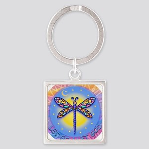 LGLG-Butterfly (purp) Square Keychain