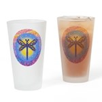LGLG-Butterfly (purp) Drinking Glass