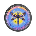 LGLG-Butterfly (purp) Wall Clock