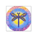 LGLG-Butterfly (purp) Square Sticker 3