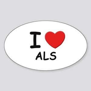 I love als Oval Sticker